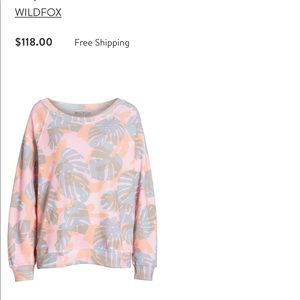 Wildfox Tops - Wildfox Palm Leaf Sweatshirt